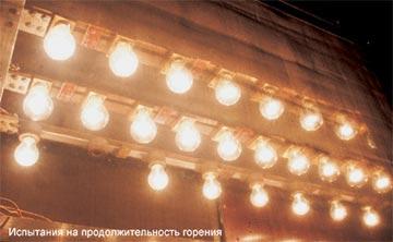 Тест ламп накаливания