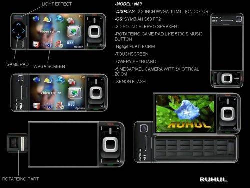Новый концептуальный смартфон NOKIA N83